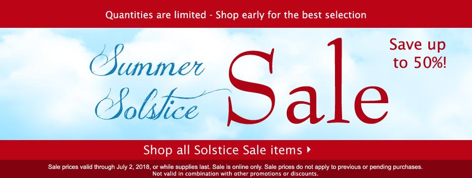 Shop our Summer Solstice Sale