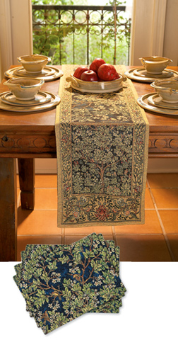 Superb Garden Of Delight Runner U0026 Placemats EXCLUSIVE! The Garden Of Delight  Offers A Bountiful Feast. Enliven Your Dining With Rich Tapestry Woven  Runner And ...