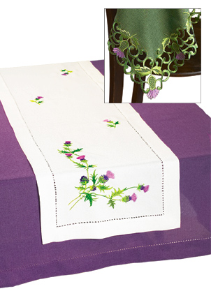 Celebrating Scotland - Scottish Thistle Tablecloth & Runner