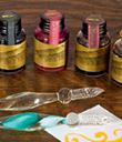Glass Pen & Ink Set