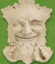 Small Green Man Plaque