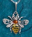Amber Honeybee Pendant