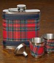 Tartan Flask & Cups Set