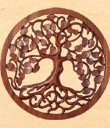 Tree of Life Carved Wooden Plaque
